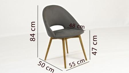 tömörfa asztal és székek - dió