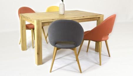 Moderní jídelní židle - antracitová