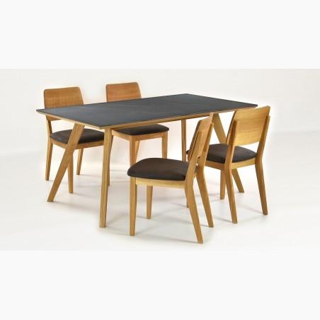 Dubový stůl - ocelové nohy