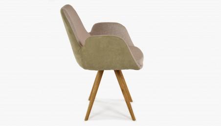 Jídelní židle s retro nádechem, šedá Lotos