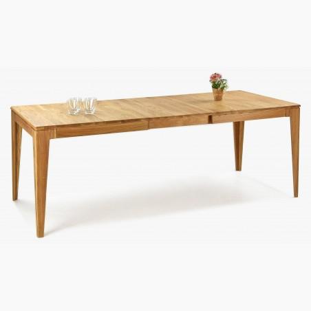 Stůl z masivu z černými nohami ve tvaru V, Vektor