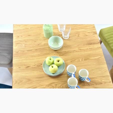 Jídelní stůl - retro vzhled 160 x 90 cm, dub