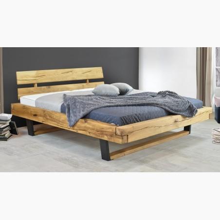 Jednolůžková postel z masivu barva ořech