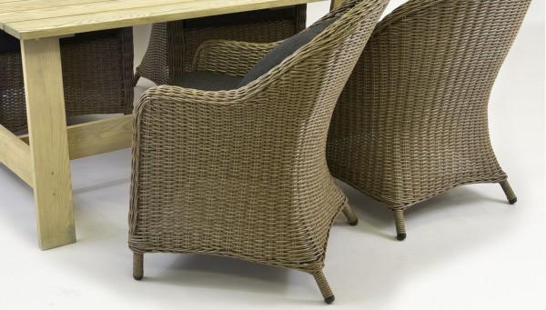 fenyő asztal szurke szék